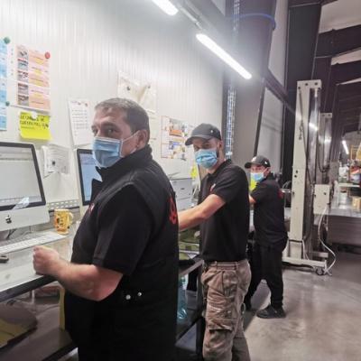 Thibault, René et Julien - Notre équipe choc de préparateurs de commandes.